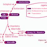 route-thalys-trein-naar-parijs