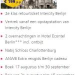 najaarsaanbieding trein met hotel naar berlijn