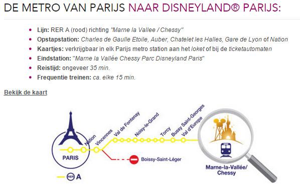 metro van parijs naar disneyland parijs