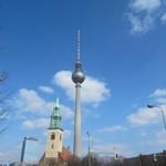 Fernsehturm televisietoren in berlijn