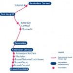 route intercity brussel trein