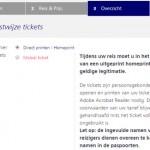 Stap 3 mobiele ticket