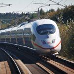 met de trein naar frankfurt