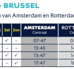 amsterdam naar brussel rechtstreeks met eurostar trein
