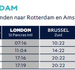 londen naar amsterdam rechtstreeks met de eurostar